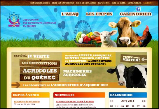 Client : Association des Expositions Agricoles du Québec